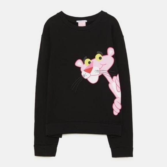 Zara Sweaters - Zara Pink Panther Black Sweater